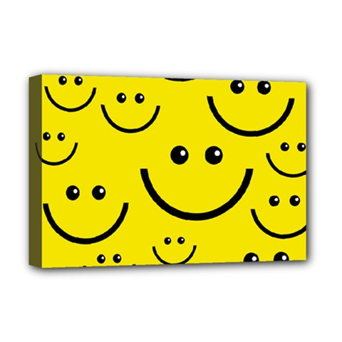 Linus Smileys Face Cute Yellow Deluxe Canvas 18  x 12