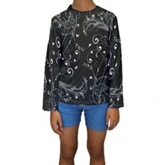 Floral design Kids  Long Sleeve Swimwear