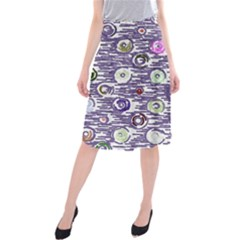 Painted circles       Midi Beach Skirt