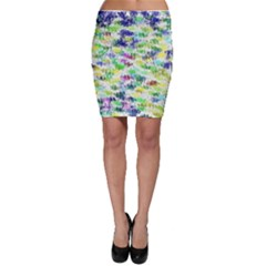 Paint on a white background           Bodycon Skirt