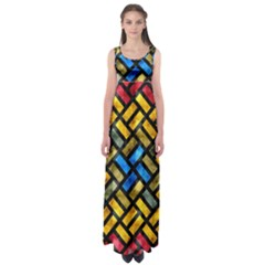 Metal rectangles       Empire Waist Maxi Dress