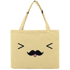 Mustache Mini Tote Bag