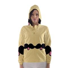 Mustache Hooded Wind Breaker (women)