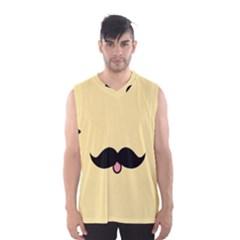 Mustache Men s Basketball Tank Top