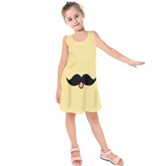 Mustache Kids  Sleeveless Dress