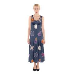 Kawaiieen Pattern Sleeveless Maxi Dress