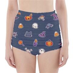 Kawaiieen Pattern High-Waisted Bikini Bottoms