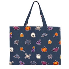 Kawaiieen Pattern Zipper Large Tote Bag