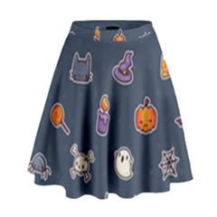 Kawaiieen Pattern High Waist Skirt