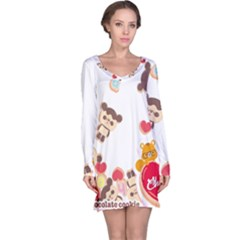 Chocopa Panda Long Sleeve Nightdress