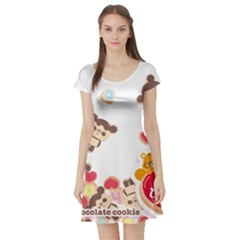 Chocopa Panda Short Sleeve Skater Dress