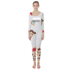 Chocopa Panda Long Sleeve Catsuit