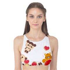 Chocopa Panda Tank Bikini Top