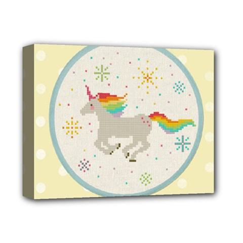 Unicorn Pattern Deluxe Canvas 14  x 11