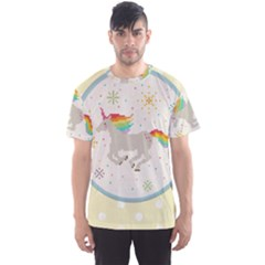 Unicorn Pattern Men s Sport Mesh Tee