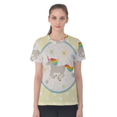 Unicorn Pattern Women s Cotton Tee