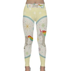 Unicorn Pattern Classic Yoga Leggings