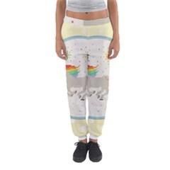 Unicorn Pattern Women s Jogger Sweatpants