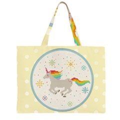 Unicorn Pattern Large Tote Bag