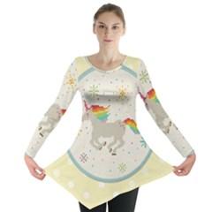 Unicorn Pattern Long Sleeve Tunic