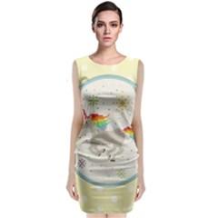 Unicorn Pattern Classic Sleeveless Midi Dress