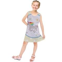 Unicorn Pattern Kids  Tunic Dress