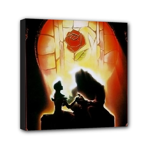 Beauty And The Beast Mini Canvas 6  x 6