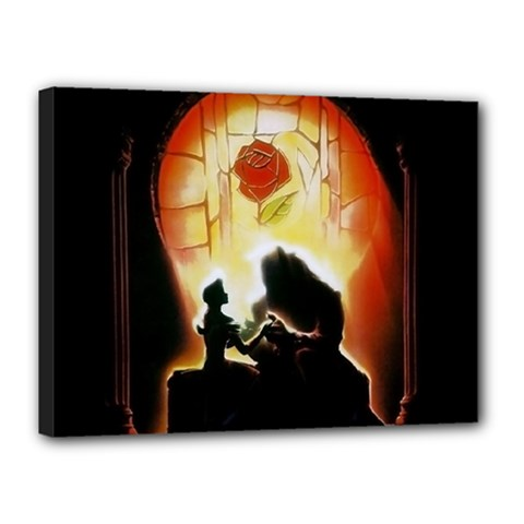 Beauty And The Beast Canvas 16  X 12