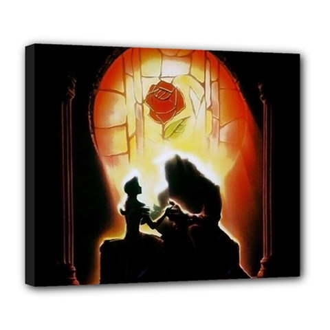 Beauty And The Beast Deluxe Canvas 24  x 20