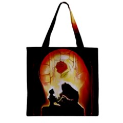 Beauty And The Beast Zipper Grocery Tote Bag