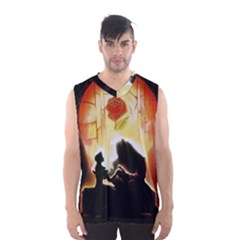 Beauty And The Beast Men s Basketball Tank Top