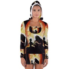 Beauty And The Beast Women s Long Sleeve Hooded T-shirt