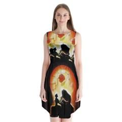 Beauty And The Beast Sleeveless Chiffon Dress