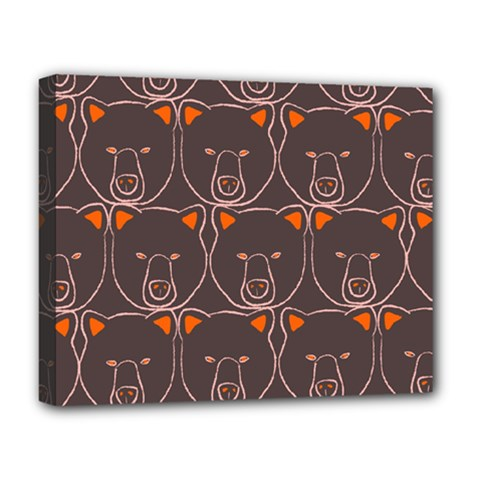 Bears Pattern Deluxe Canvas 20  x 16
