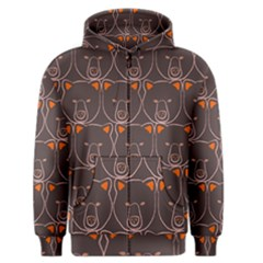 Bears Pattern Men s Zipper Hoodie