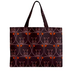 Bears Pattern Zipper Mini Tote Bag