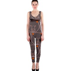 Bears Pattern OnePiece Catsuit