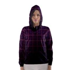Best Pattern Wallpapers Hooded Wind Breaker (women)