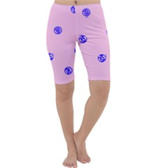 Star Space Balloon Moon Blue Pink Circle Round Polkadot Cropped Leggings