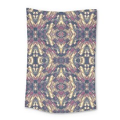 Multicolored Modern Geometric Pattern Small Tapestry
