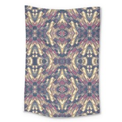 Multicolored Modern Geometric Pattern Large Tapestry