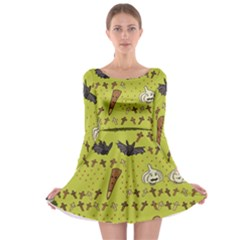 Horror Vampire Kawaii Long Sleeve Skater Dress