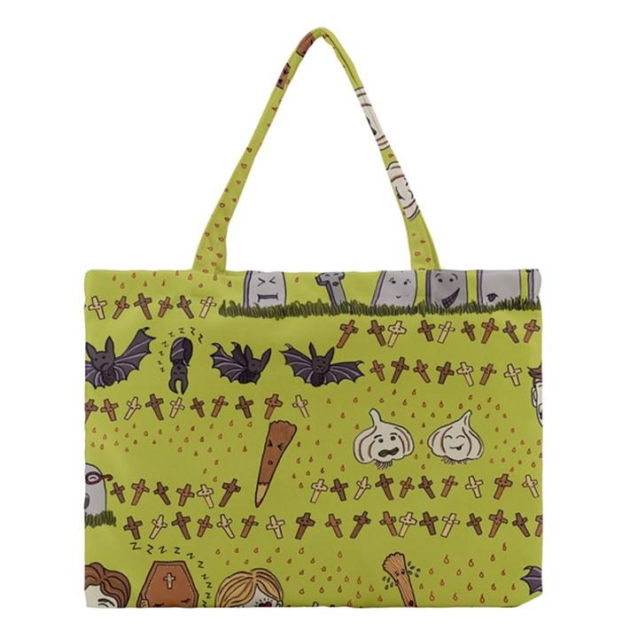 Horror Vampire Kawaii Medium Tote Bag