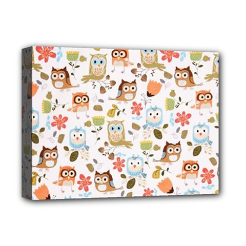 Cute Owl Deluxe Canvas 16  X 12