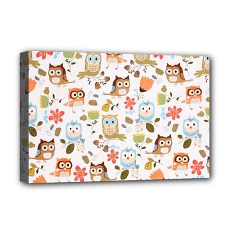 Cute Owl Deluxe Canvas 18  x 12