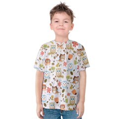 Cute Owl Kids  Cotton Tee