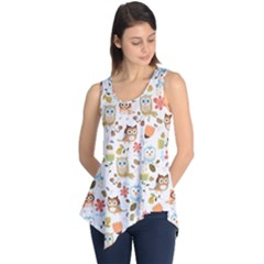 Cute Owl Sleeveless Tunic