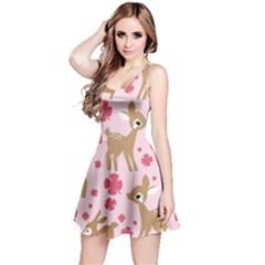 Preety Deer Cute Reversible Sleeveless Dress