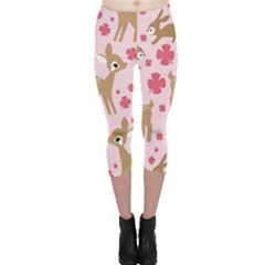 Preety Deer Cute Capri Leggings