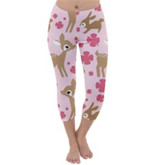 Preety Deer Cute Capri Winter Leggings